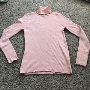 Baby pink Ralph Lauren turtleneck
